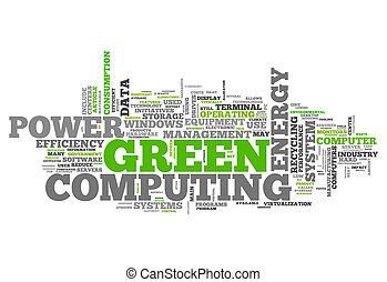 単語, 緑, 雲, 計算