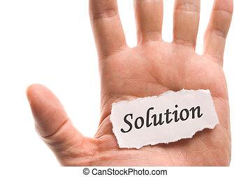 単語, 解決, 手