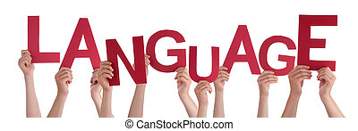 単語, 言語, 人々, 多数, 手を持つ, 赤
