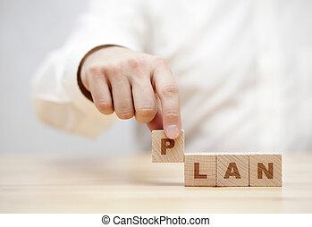 単語, 計画, 手