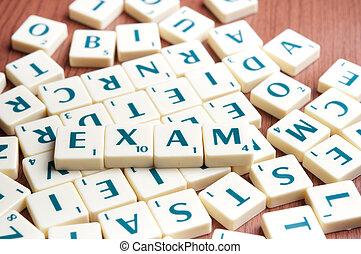 単語, 試験