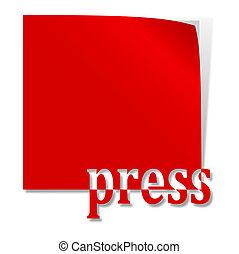 単語, 赤, 出版物, ラベル