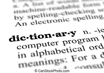 単語, 辞書