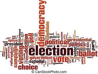 単語, 選挙, 雲