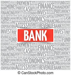 単語, 銀行, 雲