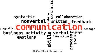 単語, -, 雲, コミュニケーション