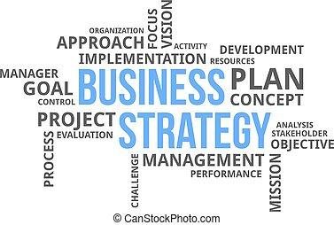 単語, -, 雲, ビジネス戦略