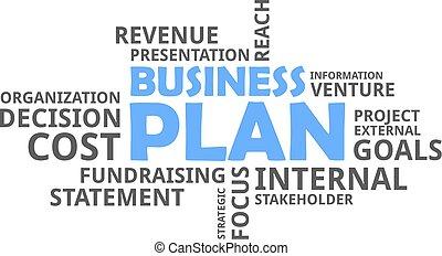 単語, -, 雲, ビジネス計画