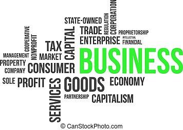 単語, -, 雲, ビジネス