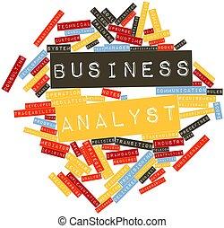 単語, 雲, ビジネス, 分析者
