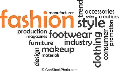 単語, 雲, -, ファッション