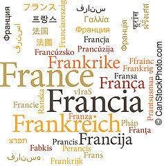 単語, 雲, フランス
