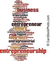 単語, 雲, 企業家精神