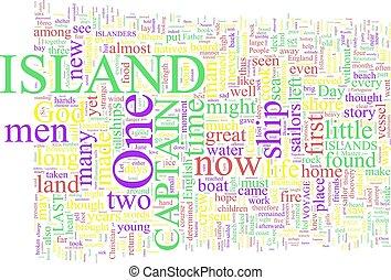 単語, -, 雲, 島