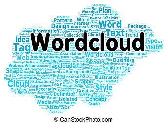 単語, 雲, 形