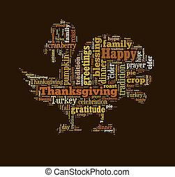 単語, 雲, 感謝祭, 日