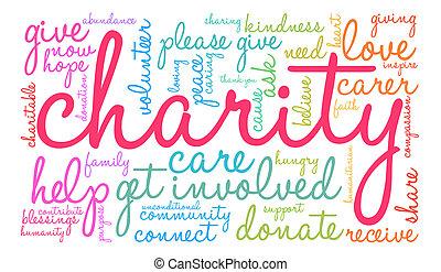 単語, 雲, 慈善
