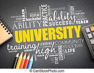 単語, 雲, 概念, 大学, コラージュ, 教育