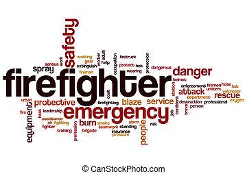 単語, 雲, 消防士