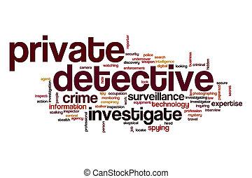 単語, 雲, 私用 探偵