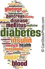 単語, 雲, 糖尿病