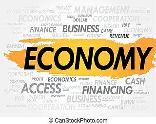 単語, 雲, 経済