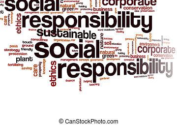 単語, 雲, 責任, 社会