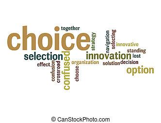 単語, 雲, 選択