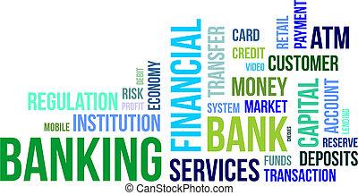 単語, -, 雲, 銀行業