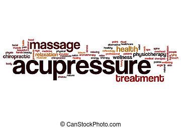 単語, 雲, acupressure