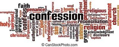 単語, 雲, confession