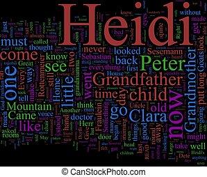 単語, -, 雲, heidi