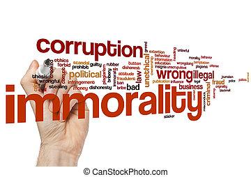単語, 雲, immorality