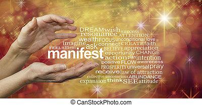 単語, 雲, manifest