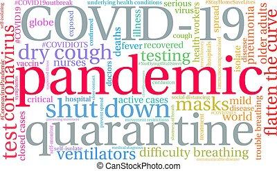単語, 雲, pandemic