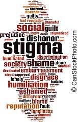 単語, 雲, stigma