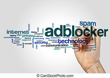 単語,  adblocker, 雲