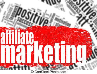単語, affiliate, 雲, マーケティング