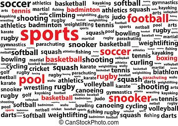 単語, categories, 雲, スポーツ