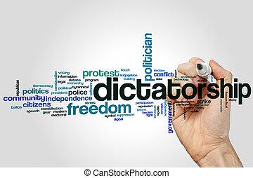 単語, dictatorship, 雲