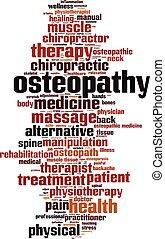 単語, osteopathy, 雲