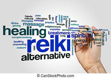 単語, reiki, 雲