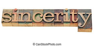 単語, sincerity