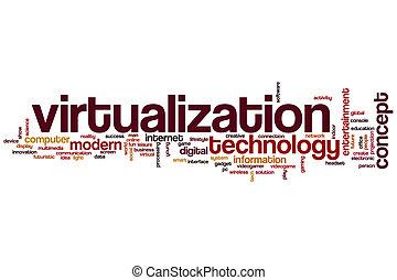 単語, virtualization, 雲