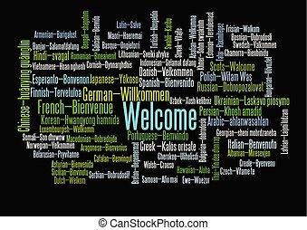 単語, 'welcome', タグ, 同等物, 雲, ショー