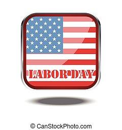 単, 旗, 日, カード, 労働