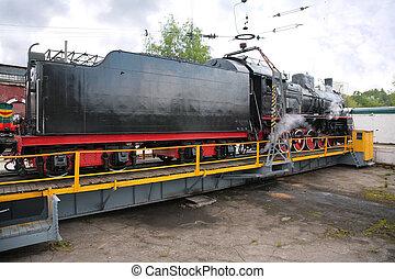 博物館, 蒸気, 機関車