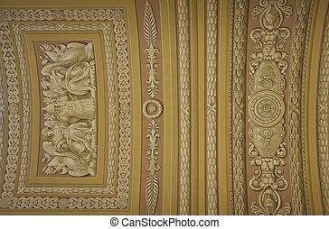 博物館, hermitage, 天井, 古代