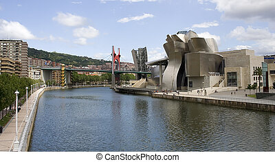 博物馆, bilbao, 西班牙, guggenheim