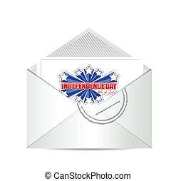 卡片, 七月, 第四, 獨立日